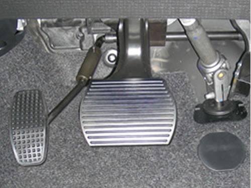 Spostamento pedale accelleratore